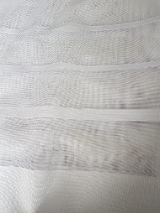 Vitrage jacquard met plooiband maat 600cm x 250cm