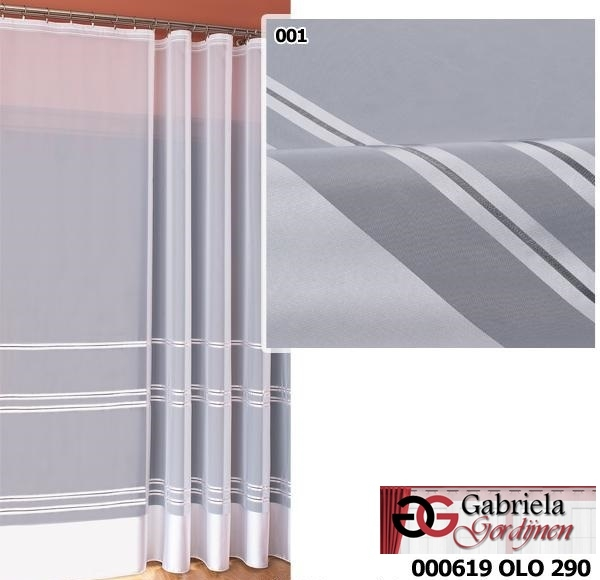 Vitrage voile maat 700cm x 250cm