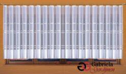 Vitrage kleur wit met wit maat 700cm x 160cm