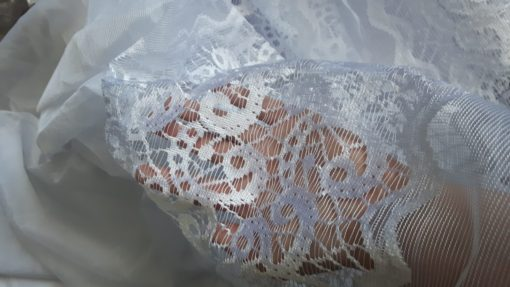 Vitrage jacquard met plooiband 700cm x 250cm