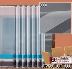Vitrage kleur wit met grijs maat 600cm x 250cm